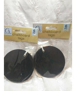 12 Chalkboard Tags Large Round With Ties 3 and 1/2 inches - $9.89