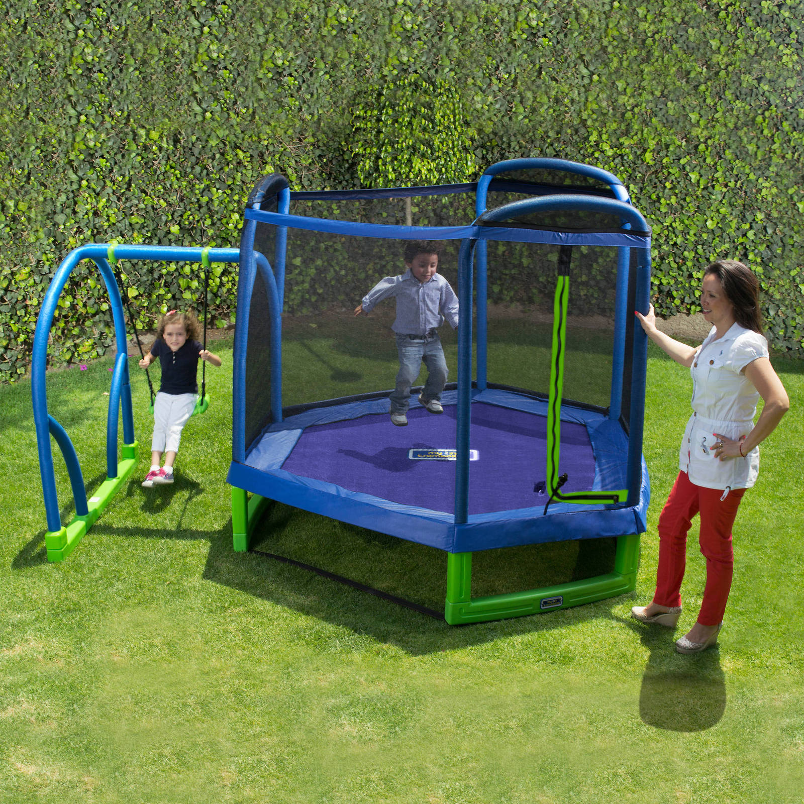 Trampoline Parts Center Coupon Code: Swing Set Trampoline Outdoor Playground Play Swingset