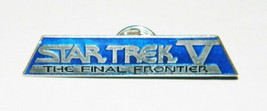 Star Trek V: The Final Frontier Name Logo Blue Metal Cloisonne Pin 1989,... - $7.84