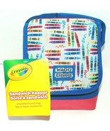 Igloo Sandwich Keeper Bag Lunch Box Bag - Crayons Blue/Red Brand New Cra... - $7.07
