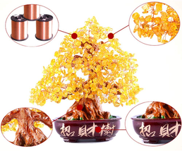 Dameing Crystal Money Tree Feng Shui Bonsai For Fortune Money Good Luck Reiki He image 2