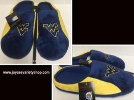 West Virginia Men's Cushion Memory Soles Slippers Shoe Sz L (11-12) image 1