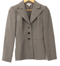 BEBE Women's Gray 2 pcs Skirt Suit Blazer/Jacket mini Skirt outfit Size 4 - $49.01