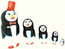 Gabriella's Gifts Authentic Russian Hand Painted Penguins Nesting Dolls ... - $24.45