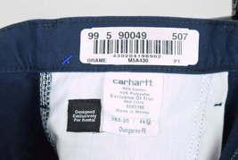 NWT CARHARTT Blue Cotton Dungaree Fit Carpenter Work Pants Mens Size 44 x 32 image 4
