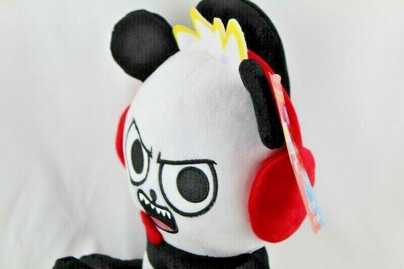 "Ryans World 10"" Plush Panda New With Tags Black White Red Pocket Watch  image 3"