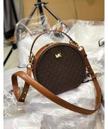 Michael Kors Delaney Medium Logo Canteen Crossbody Bag Brown - $185.00