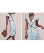 Anthropologie Rosalia Wrap Dress by Maeve $158 - NWT Blue - $67.49