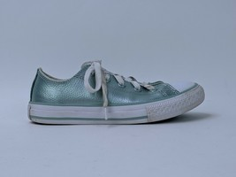 Converse Girl's 13 Low Top Sneakers Lace Up Metallic Blue - $14.99