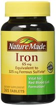Nature Made Iron 65 mg, 365 Tablets - $19.31
