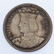 1893 Isabella 25C Commemorative Quarter, XF Condition, Natural Color - $236.61