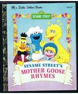 ORIGINAL Vintage 1993 Sesame Street Mother Goose Rhymes Golden Book  - $9.49