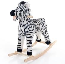 Happy Trails Black Zebra Plush Rocking Animal Maximum Durability - $58.62
