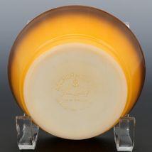 """Fire-King 5"""" Stacking Bowl Orange Brown Fade image 3"""