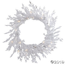 "Vickerman 30"" Flocked Winter Twig Christmas Wreath with Clear Lights - $62.75"