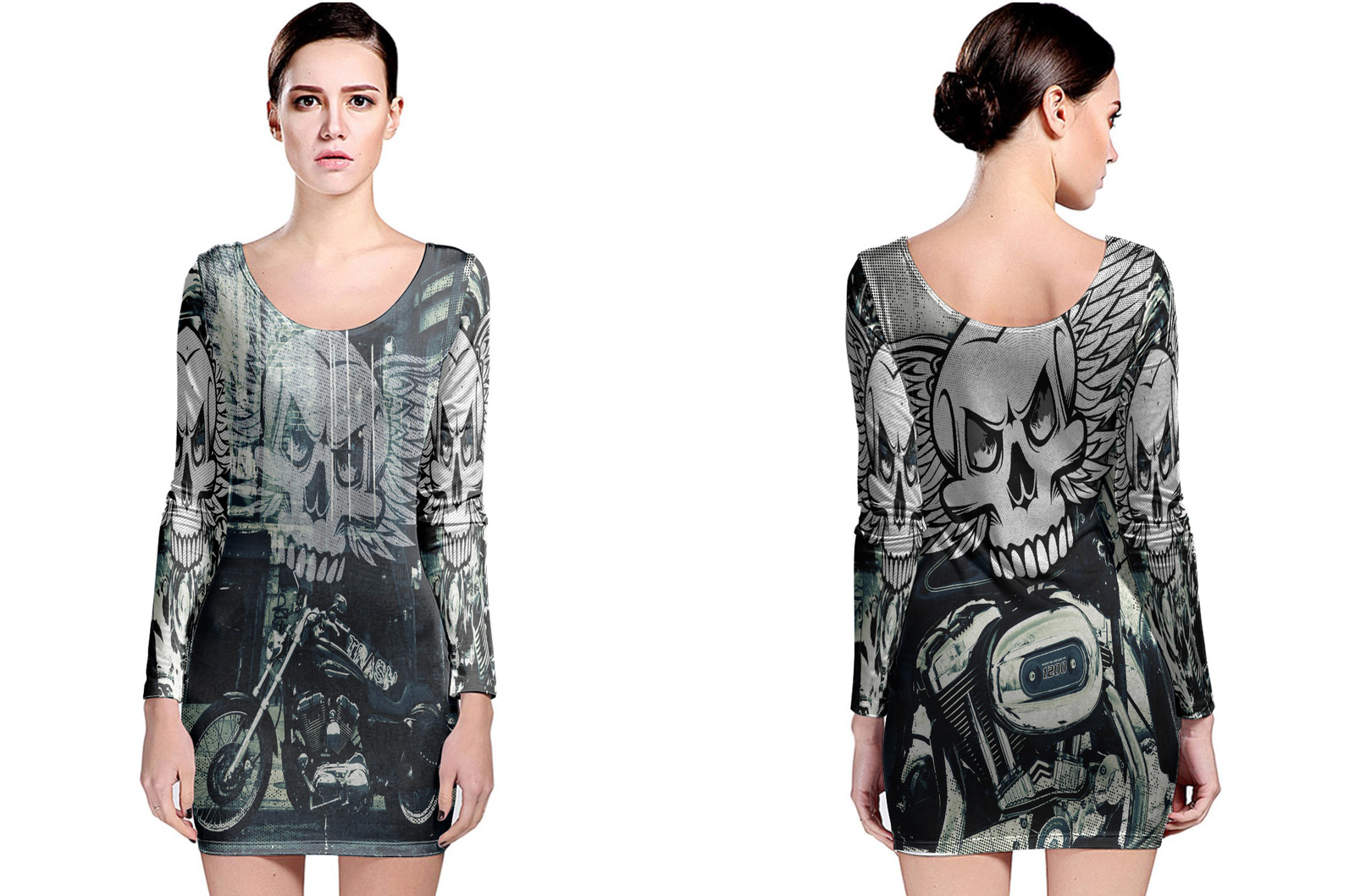 Primary image for Biker Collection #1 Women's Long Sleeve Bodycon Dress