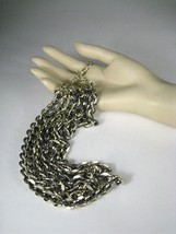 Sarah Coventry Necklace Women Multi Strand 18 Inches Vintage 1970? Silvertone - $29.69