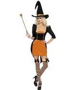 Fever Bruja Calabaza Disfraz, Naranja y Negro, Disfraz, Grande 16-18, Mujer - $39.70