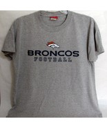 Denver Broncos NFL Football T Shirt Adult XL Extra Large Gray - $16.78