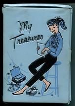 Vtg 1950s Deb-U-Teen My Treasures Vinyl Box Ponytail Dateline - $17.99