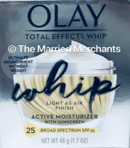 Olay Total Effects Whip Active Moisturizer SPF 25 1.7 oz 7/2019 each REA... - $7.99