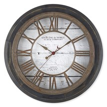 Sterling & Noble Farmhouse Collection Roman Grill 15.5-Inch Wall Clock i... - $47.49