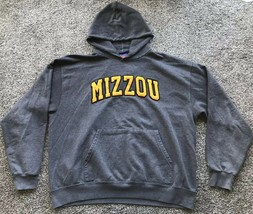 Champion Missouri Tigers Hooded Sweatshirt Men's Size XL Gray - $12.87
