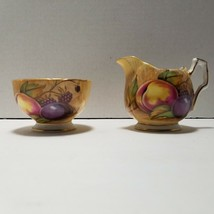 Aynsley Orchard Gold Mini Sugar Bowl and Creamer Set - $32.71