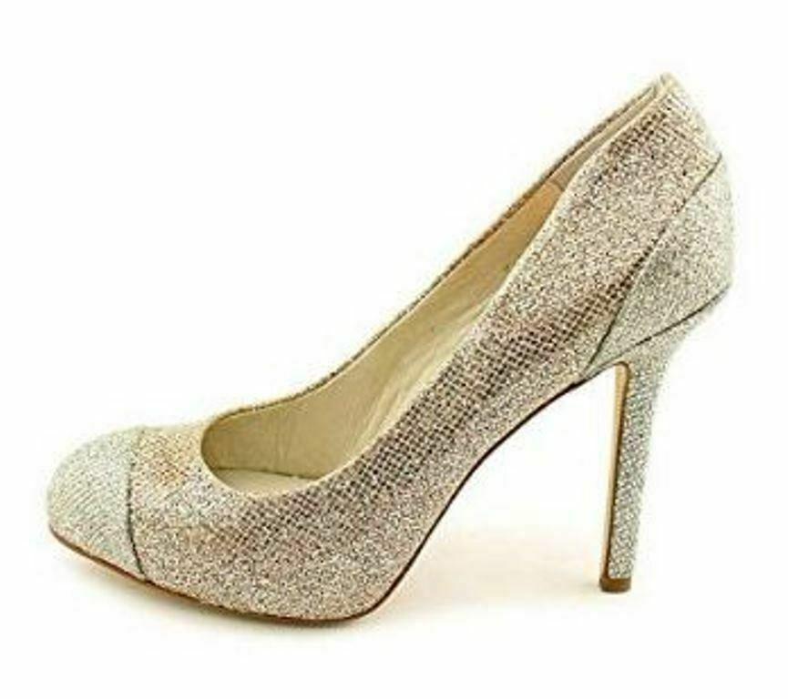 Women's Shoes Michael Kors SINCLAIR PUMP Stiletto Heels Glitter SAND Glamour image 2
