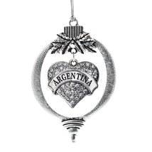Inspired Silver Argentina Pave Heart Holiday Christmas Tree Ornament With Crysta - $14.69