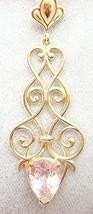 14K Gold Fancy Pendant with 2.16ct Genuine Natural Morganite (#2763) - $850.73