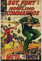 Sgt Fury and His Howling Commandos #55 ORIGINAL Vintage 1968 Marvel Comics - $14.84