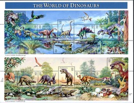Sheet of 15 #3136 The World of Dinosaurs 32 cent stamp 1997 - $6.00