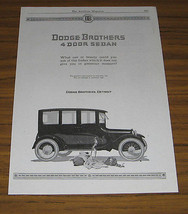 1920 Vintage Ad Dodge Brothers 4 Door Sedan Detroit,MI Football & Helmet - $18.13