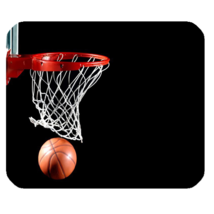 Mouse Pad Basketball Ring Sports Editions In Elegant Design Fantasy Game - $6.00