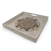 gbHome GH-6793 Decorative Wooden Serving Tray With Engraved Art, Ottoman... - $674,75 MXN