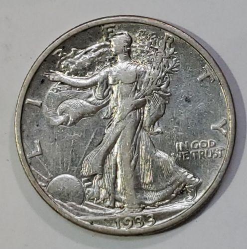 1933S Walking Liberty Silver Half Dollar COIN LOT# E 267
