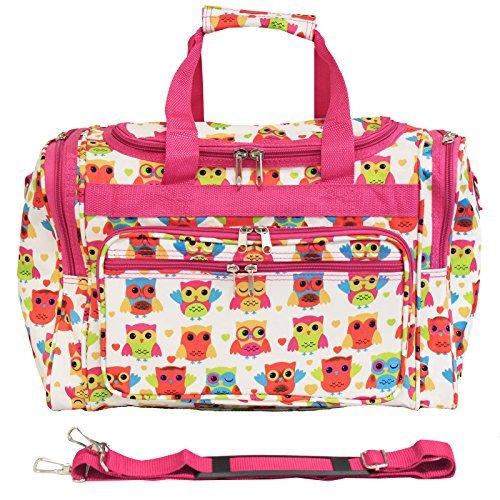 World Traveler 81T16-176  Duffle Bag, One Size, Owl Pink