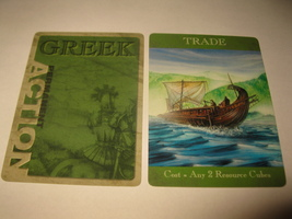 2003 Age of Mythology Board Game Piece: Greek Permanent Card - Trade - $1.00