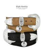 Silver City Western Belt Crazy Horse Scalloped Genuine Leather Belt 1-1/... - $44.95