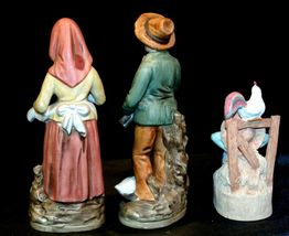 Country Living Figurines - Man, Woman and Child AA-191974 Vintage image 5
