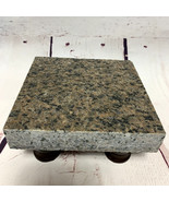 Granite Cheese Tray Board Brown w Black Accents Walnut Stained Legs CT001 - $45.00