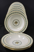 Eight Wedgwood Rimmed Soup Bowls * Appledore * Brown Stamp - $33.25