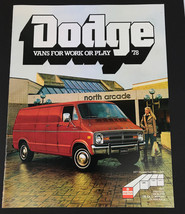 Vintage 1978 Dodge Vans for Work Play Car Sales Brochure 12 pages - $10.84