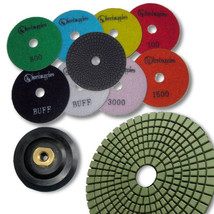 "KENT 10pcs WET 4"" Premium Quality 3mm Thick Diamond Polishing Pads, M14 Holder - $78.31"