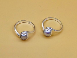 2 SILVER RING WITH PEARL STONE ATTRACTIVE DESIGN FOR UNISEX GIFT ITEM - $49.49