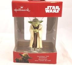 Hallmark Ornament Red Box Star Wars Yoda NIB New  - $14.02