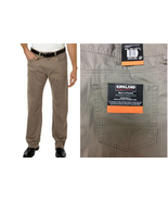 Men's Kirkland Signature 5 Pocket Brushed Cotton Pants, Desert Sand, 32x30 - $22.76