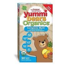Yummi Bears Organics Gummy Vitamins Multi-Vitamin for Kids 90 Gummy Bears - $26.01