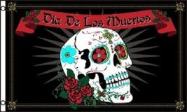 3x5 Day of the Dead Flag Dia de los Muertos Bandera Banner Skull Pennant... - $16.00